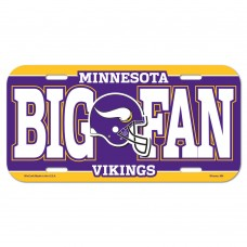 Minnesota Vikings Big Fan License Plate