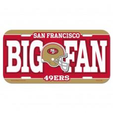 San Francisco 49ers Big Fan License Plate
