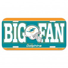 Miami Dolphins Big Fan License Plate