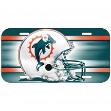 Miami Dolphins Helmet License Plate