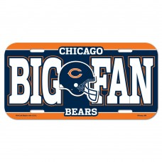 Chicago Bears Big Fan License Plate