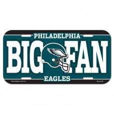 Philadelphia Eagles Big Fan License Plate