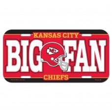 Kansas City Chiefs Big Fan License Plate