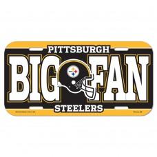 Pittsburgh Steelers Big Fan License Plate