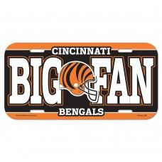 Cincinnati Bengals Big Fan License Plate