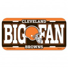 Cleveland Browns Big Fan License Plate