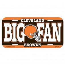 Cleveland Browns Big Fan License Plate