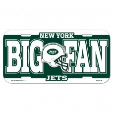 New York Jets Big Fan License Plate