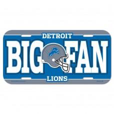 Detroit Lions Big Fan License Plate