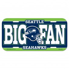 Seattle Seahawks Big Fan License Plate