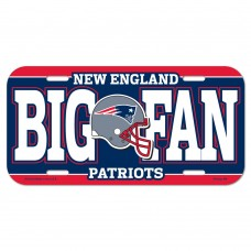 New England Patriots Big Fan License Plate