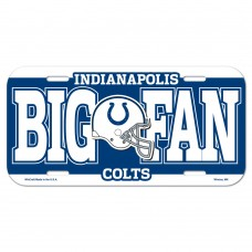 Indianapolis Colts Big Fan License Plate