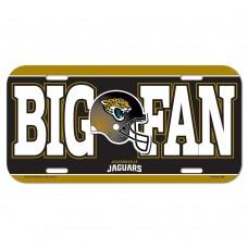 Jacksonville Jaguars Big Fan License Plate