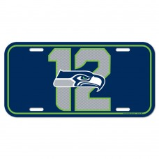 Seattle Seahawks 12 License Plate