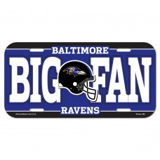 Baltimore Ravens Helmet Logo License Plate