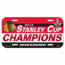 Chicago Blackhawks Champions License Plate