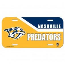 Nashville Predators Yellow License Plate
