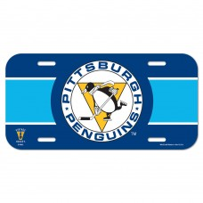 Pittsburgh Penguins Blue License Plate