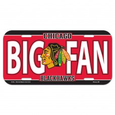 Chicago Blackhawks Big Fan License Plate
