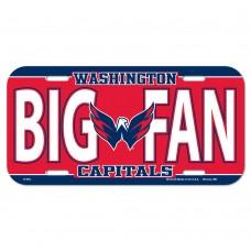 Washington Capitals Big Fan License Plate