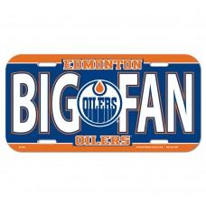 Edmonton Oilers Big Fan License Plate