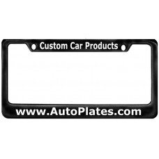 Custom Black Brass 2 Hole Wide Top - Wide Bottom License Plate Frame