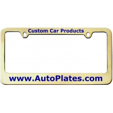 Custom Brass 2 Hole Thin Top - Wide Bottom License Plate Frame
