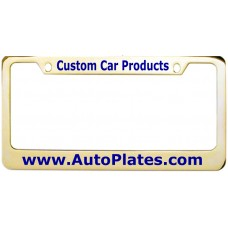 Custom Brass 2 Hole Wide Top - Wide Bottom License Plate Frame