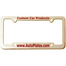 Custom Brass 4 Hole Thin Top - Wide Bottom License Plate Frame