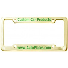 Custom Brass 4 Hole Wide Top - Wide Bottom License Plate Frame