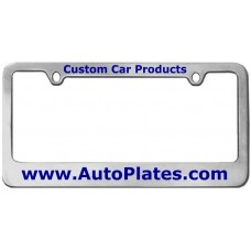 Custom Chrome Brass 2 Hole Thin Top - Wide Bottom License Plate Frame