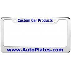 Custom Chrome Brass 2 Hole Wide Top - Wide Bottom License Plate Frame