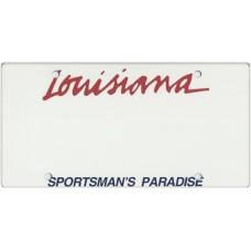 Louisiana State Replica Plate