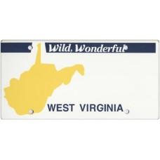 West Virginia State Replica Plate