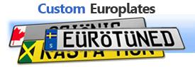 Custom European License Plates