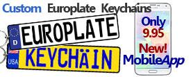 Euro Plate Keychain