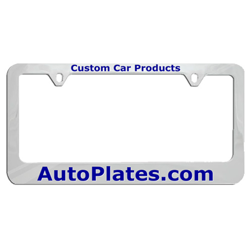 Custom Engraved Plastic License Plate Frame