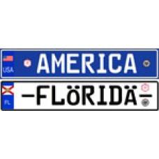 Custom American Euro Style License Plate