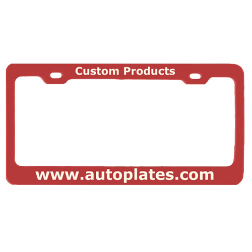 Custom Laser Engraved Anodized License Plate Frame