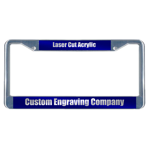 Custom Laser Cut Acrylic License Plate Frame