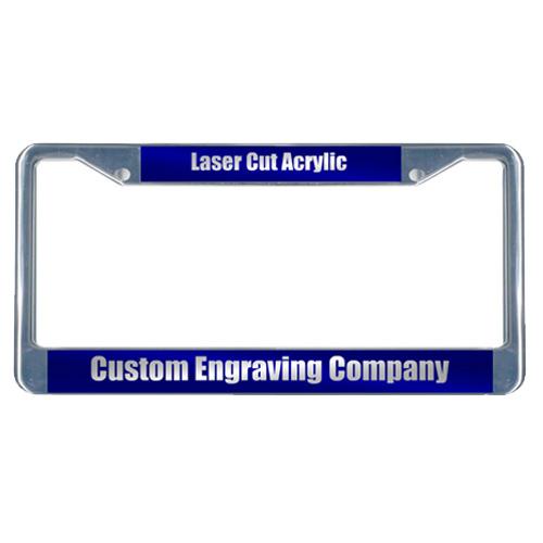 Custom Laser Cut Acrylic License Plate Frame