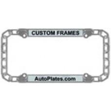 custom chain license plate frame