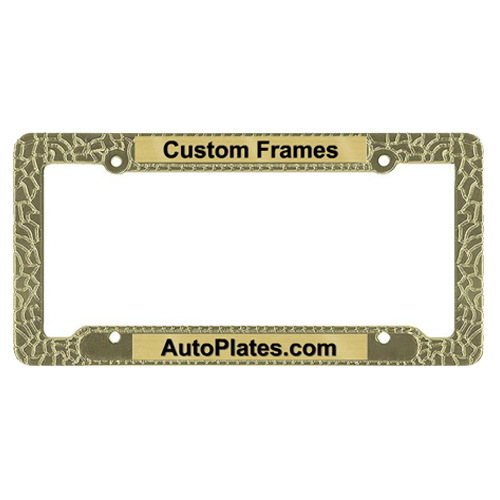 Custom Nugget License Plate Frame
