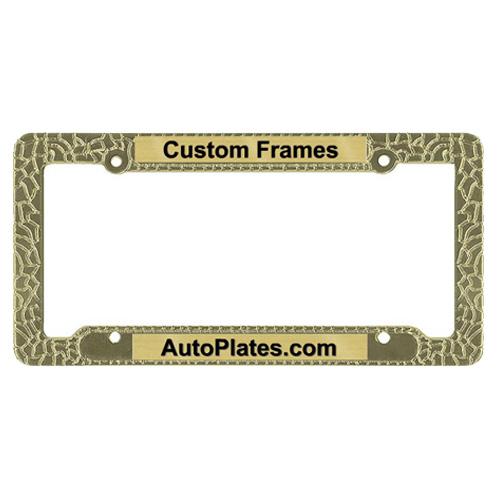 Custom Nugget License Plate Frame