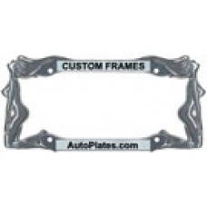 Custom Twins License Plate Frame