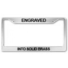 custom brass engraved license plate frame