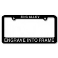 Custom Engraved Zinc License Plate Frame