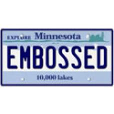 Custom Embossed Metal State License Plate