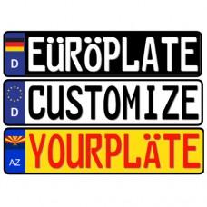 Custom European License Plate