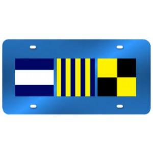 Custom Nautical License Plate